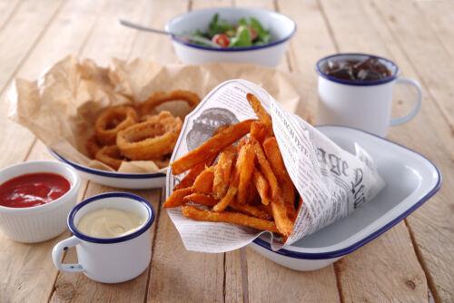 Zsírpapírok street food ételek tálalásához